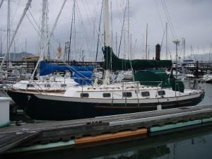 At slip, port side