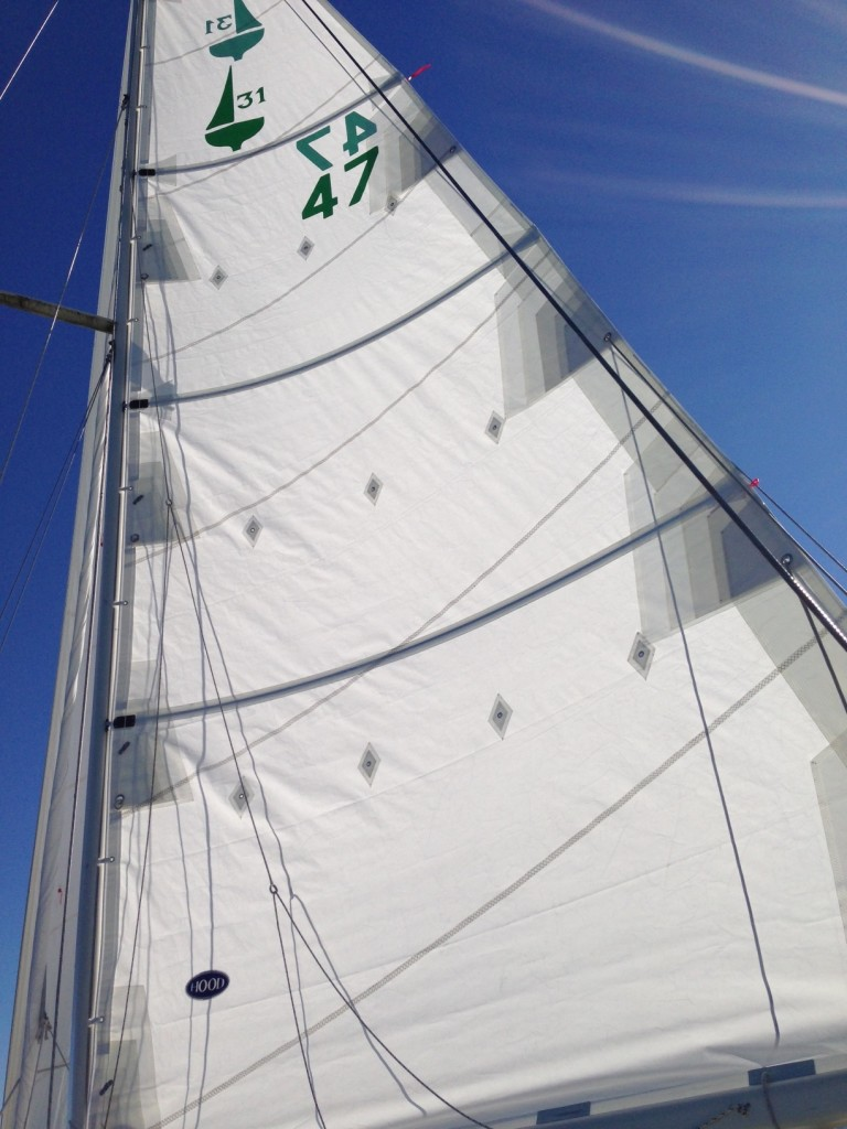 New fully-battened mainsail
