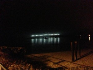 Half Moon Bay Harbor at Night