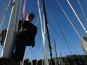 Rick up the mast