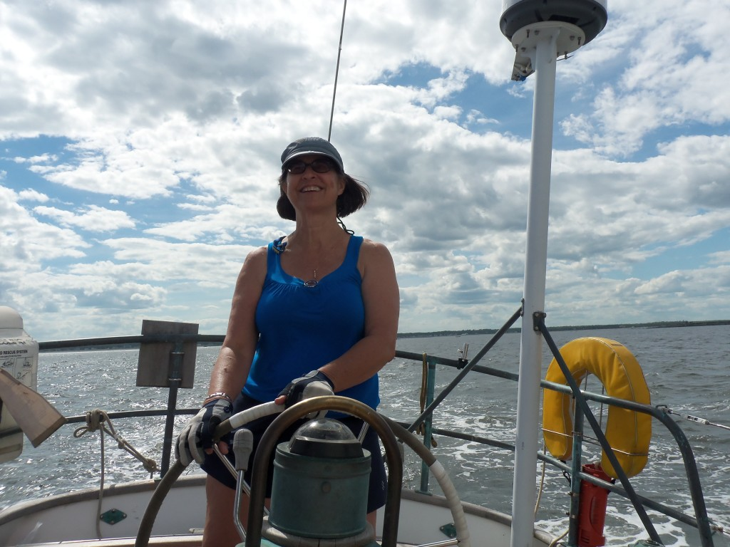 Cindy sailing in Saco Bay, Maine