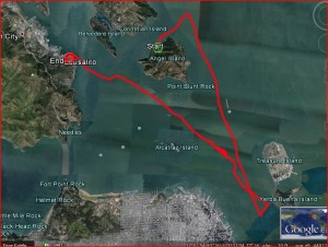 Cool Change Track the day we watched the America's Cup from our boat: 15nm, 6 hours, max speed 7.5 knots