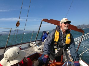 Rick at the helm of Pursuit