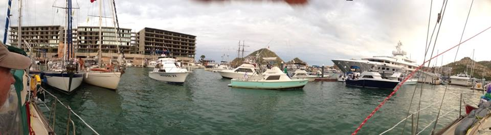 Busy marina at Cabo San Lucas