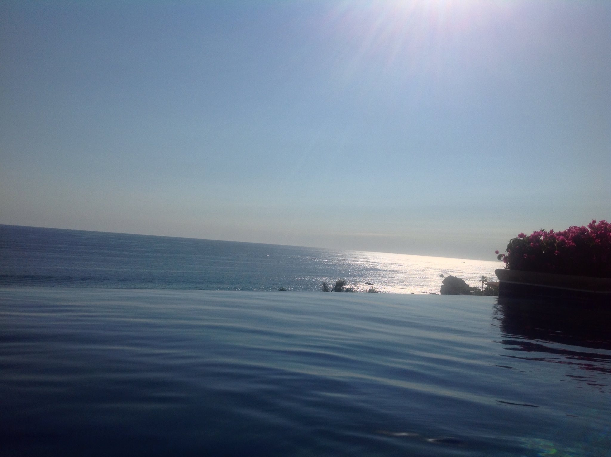 Infinity Pool overlooking the Pacific ocean at our private Villa in Pedregal, Cabo San Lucas