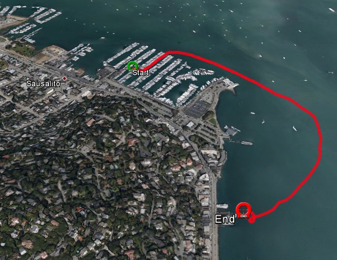 The end of the track shows where Ondine's is