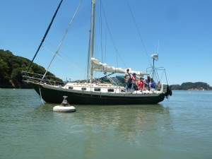 Cool Change moored in Ayala Cove