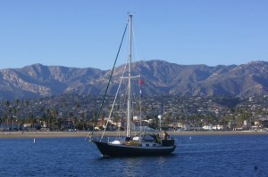 Coming into Santa Barbara after nearly 24 hours at sea
