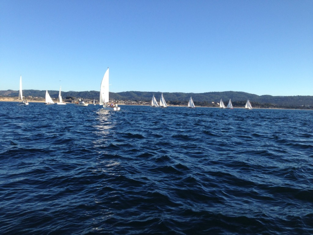 Watching the first class of race boats start