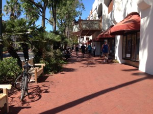 Walkable streets in Santa Barbara