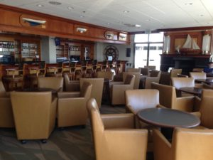 The downstairs bar/lounge in the Yacht Club