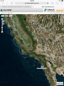 Our trip so far - 609 nautical miles
