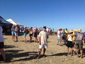 Rick at the beach party in Bshia Santa Maria