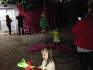 Piñata. The kids really look forward to it. The audience sings a song as the kids hit the piñata to time each's turn