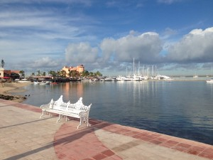 The Malecon, looking west towards our marina