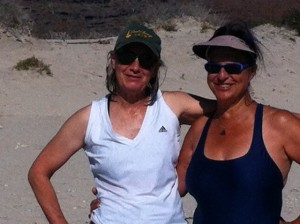 Lynne and Cindy at Bonanza Beach on Isla Espiritu Santo