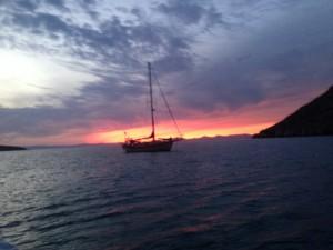 Another sunset in paradise, at Ensenada Grande, Isla Partida