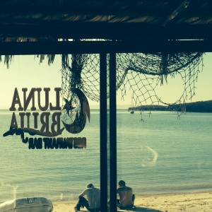 The view from Luna Bruja, the smaller of the two restaurants on Playa Pichilingue.