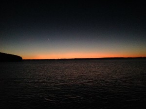 Sunset at San Gabriel anchorage