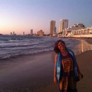 Cindy on the beach hike