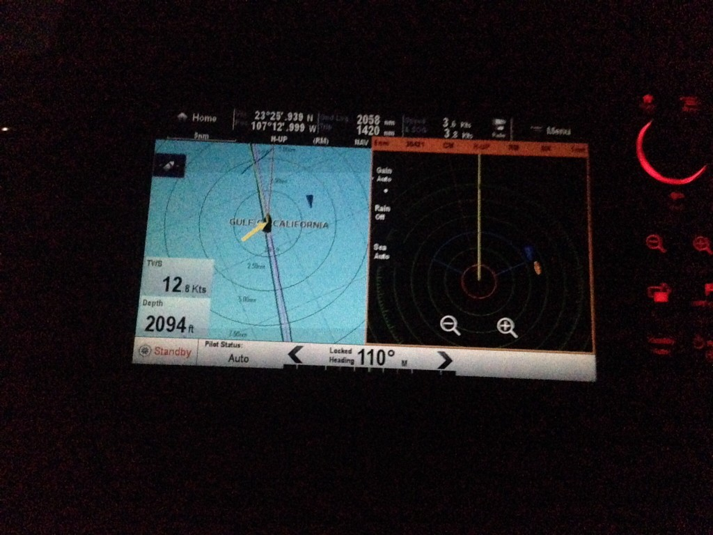 AIS on left, RADAR on right; both show the ferry coming at me!