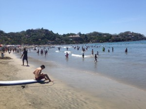 All the Mexican families starting their Easter Week holiday in Sayulita