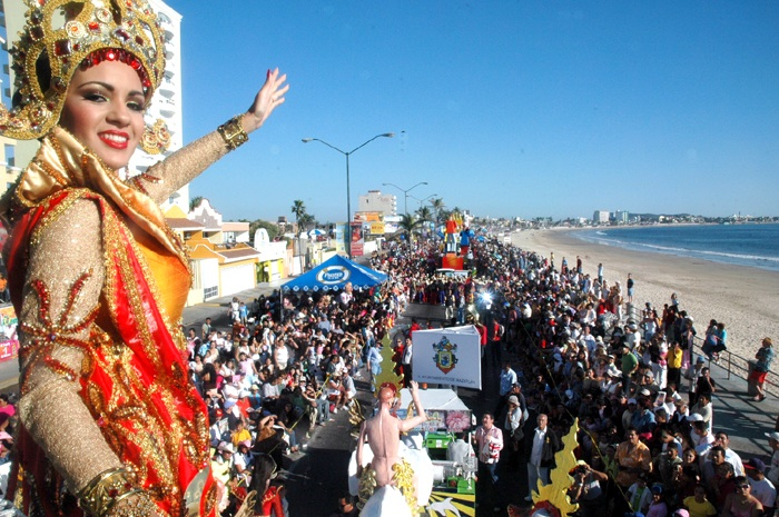 Mazatlan's Carnaval is allegedly the third largest in the world. The parade starts late afternoon and into the night on Sunday and runs North along the Malecon/beachfront
