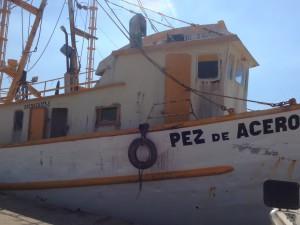 A fishing boat close up