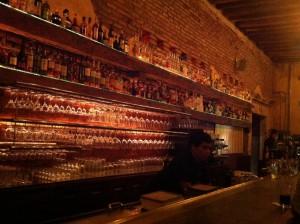The outdoor bar inside The Presidio