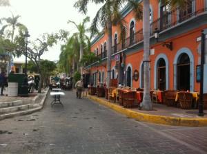 One of the streets bordering the Plazuela Machado