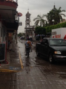 Downtown San Blas after the rain.  We got into the marina just in time to avoid a big storm at sea.