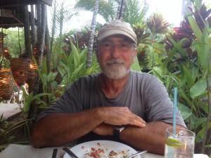 Rick content after a good meal at Fajita Republic