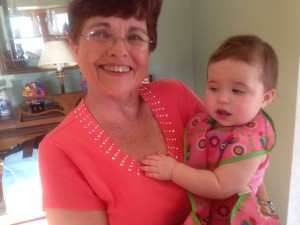 My sister Bonnie with her granddaughter Madeline