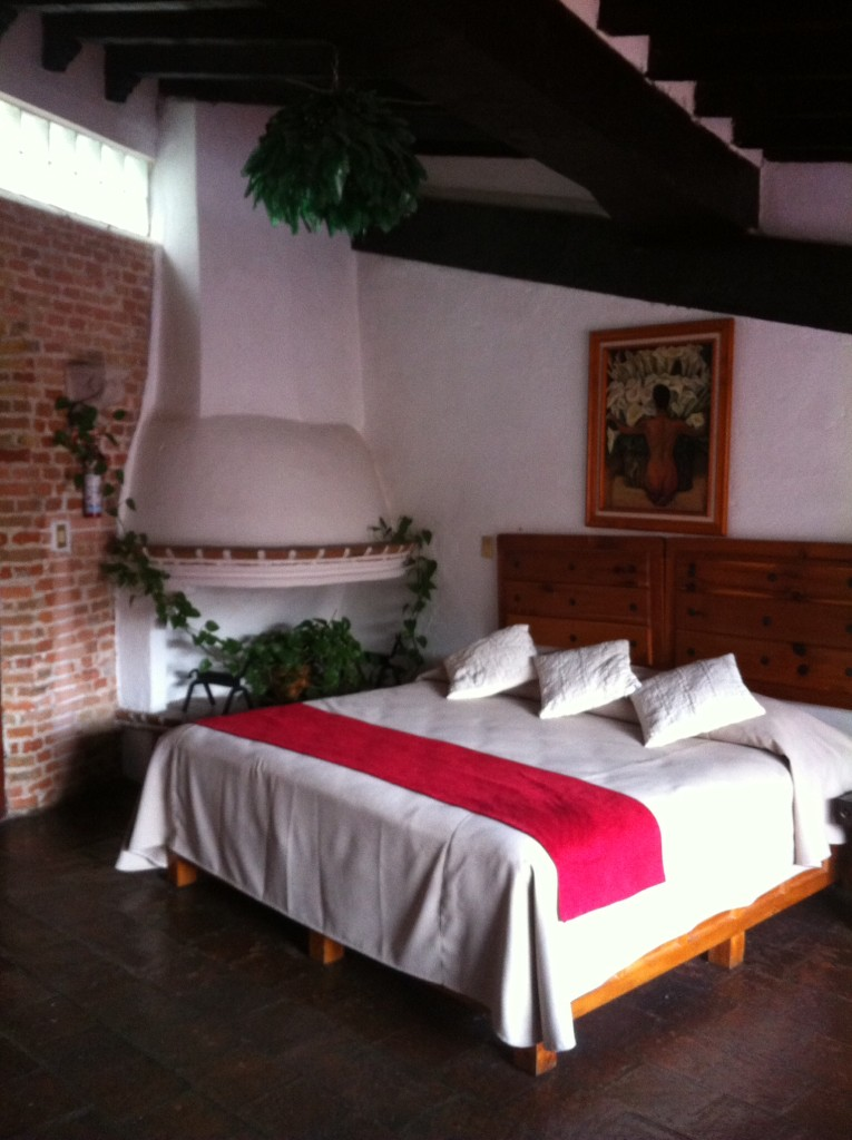 Our king-sized bed at La Casita, and there was a whole other bedroom we didn't even use!