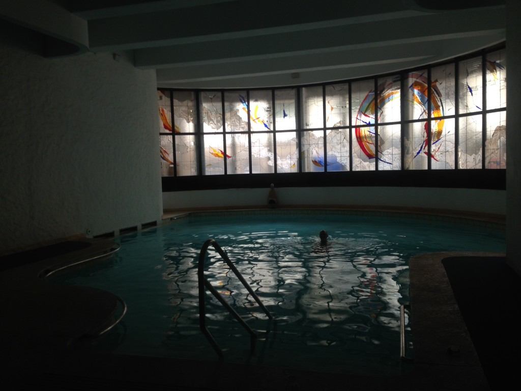 The pool for massage guests