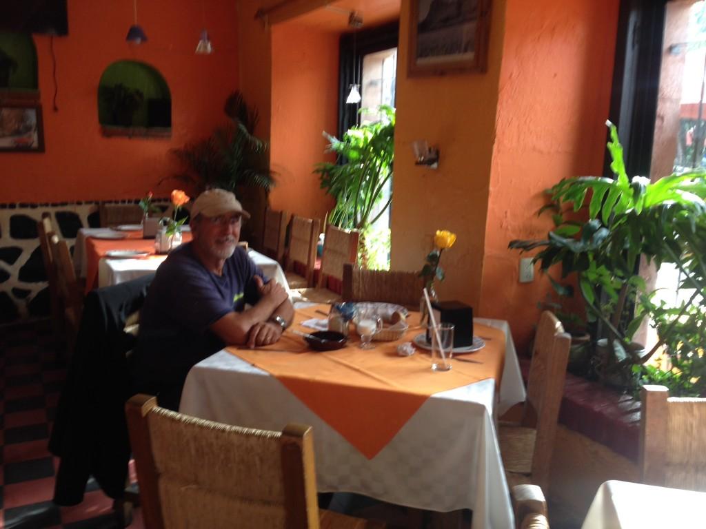 Rick's favorite breakfast spot near it hotel on the zocolo