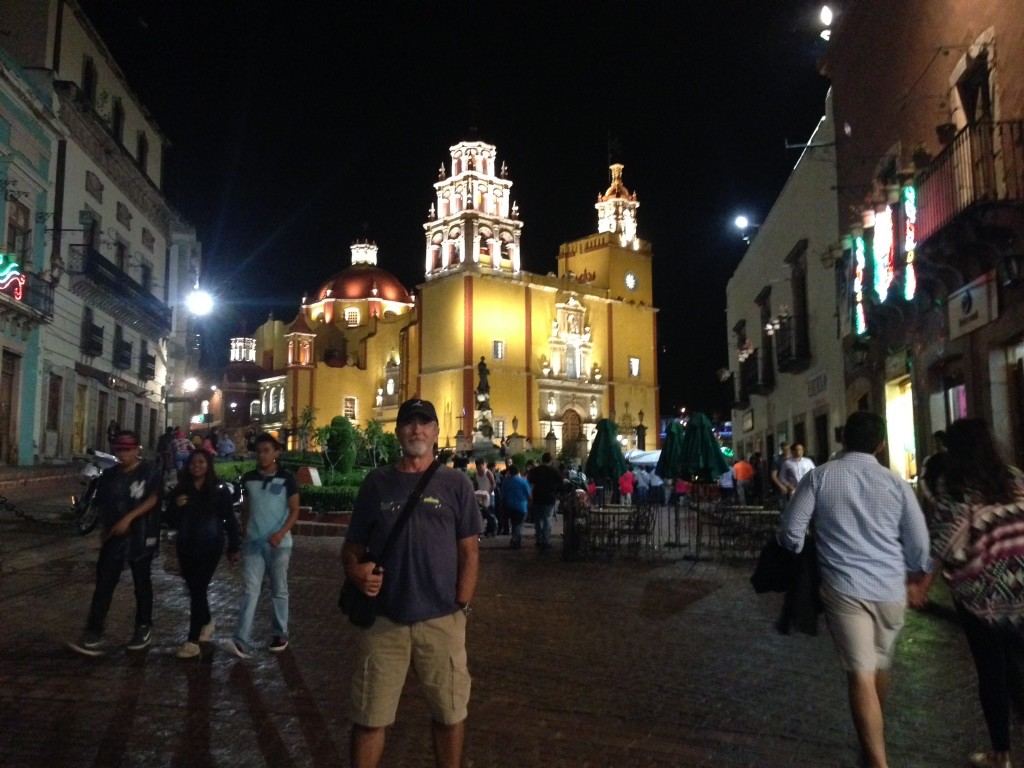 The principal cathedral on the main square in Guanajuato