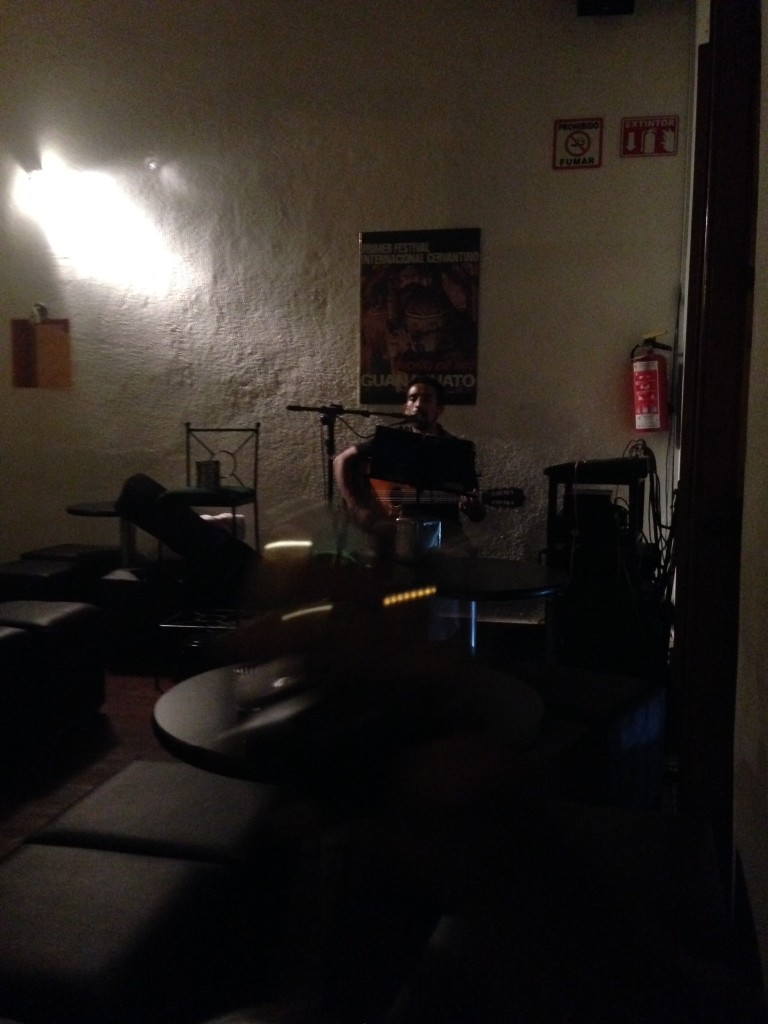 A live music venue we discovered on a rainy night in Guanajuato