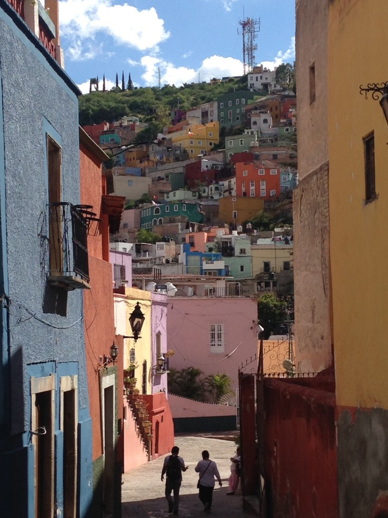 The steep streets and colorful buildings of Guanajuato