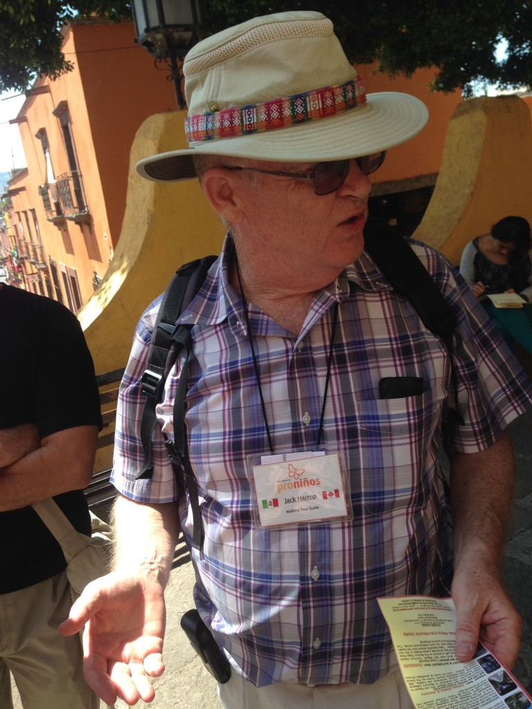 Our tour guide in San Miguel de Allende