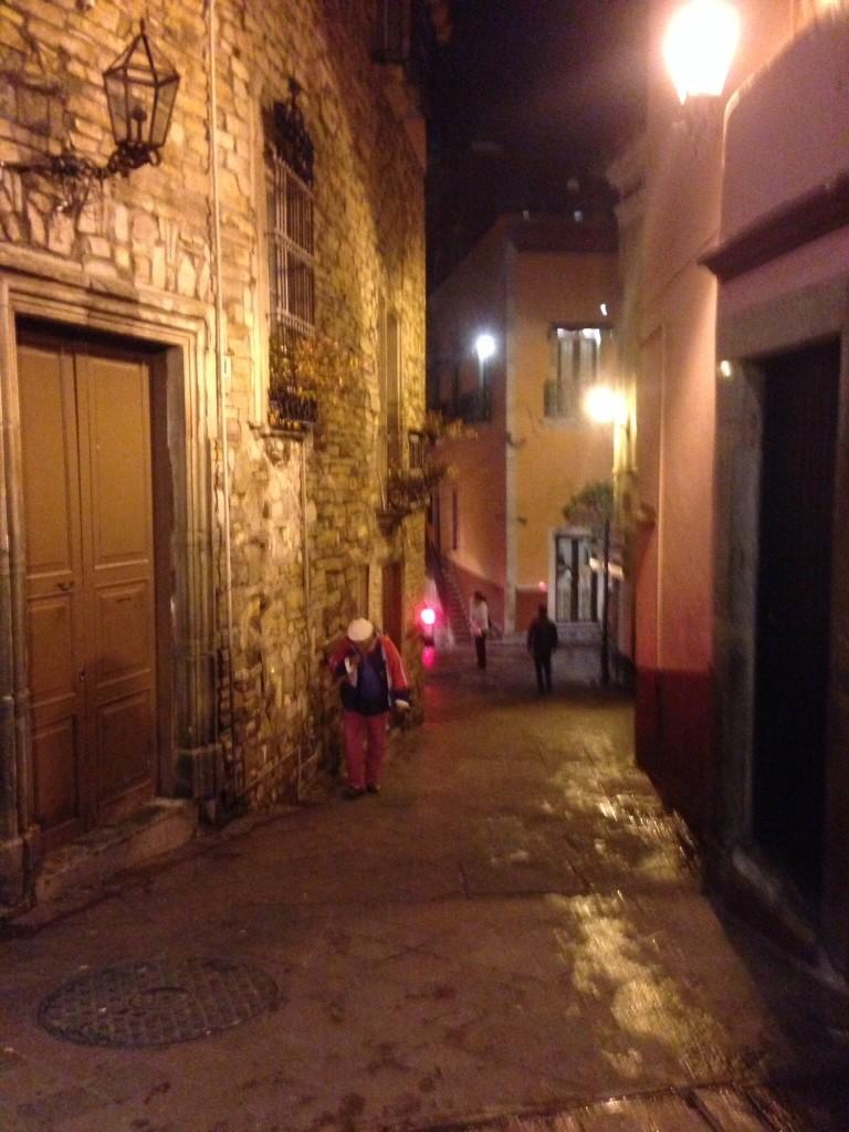 Ancient rainy streets in Guanajuato
