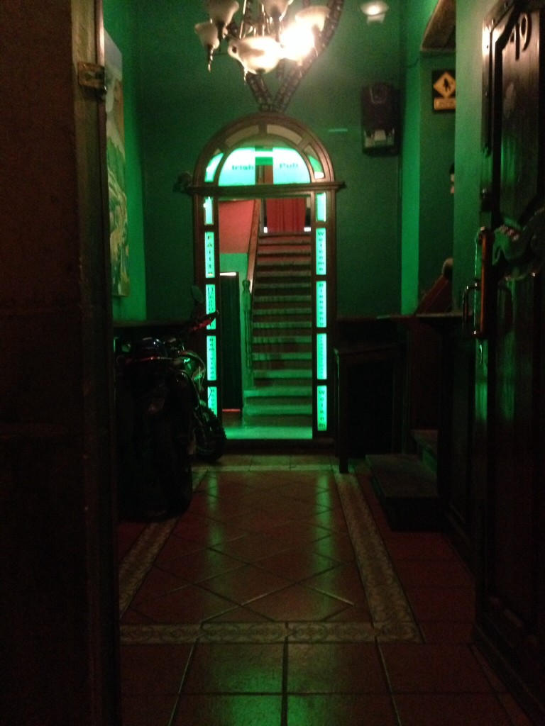 Irish Pub in Guanajuato, in honor of the Murphy's, my sister Kim's family