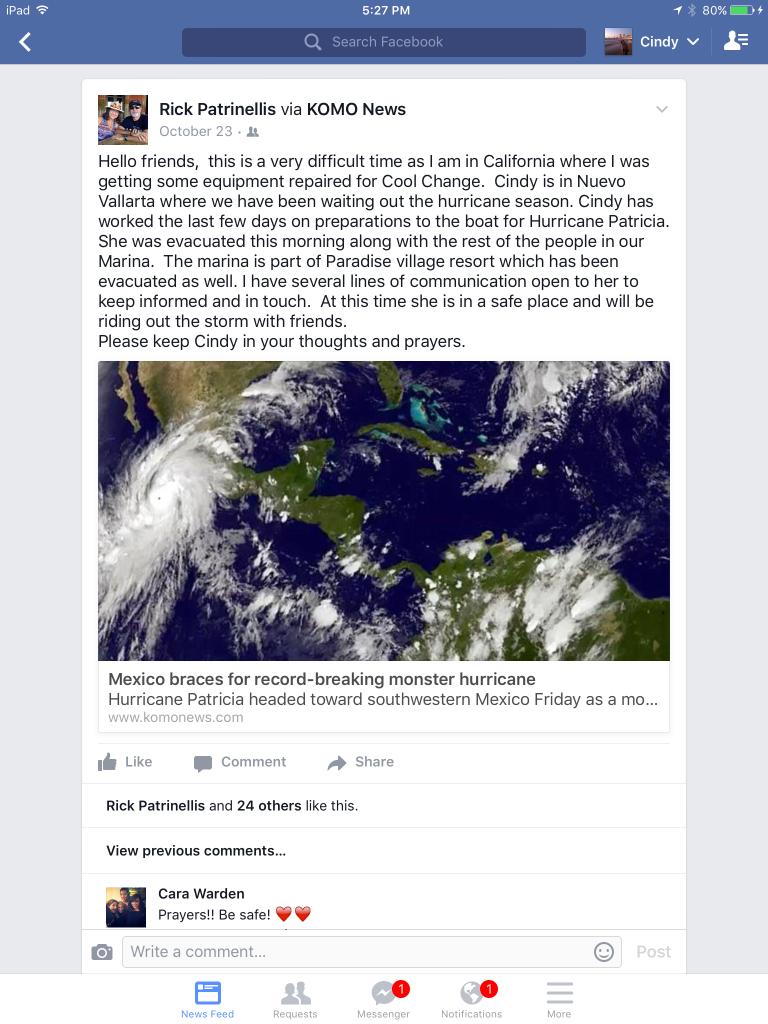 Rick's Facebook post