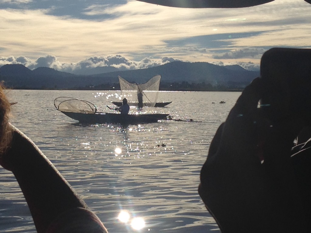 The local fisherman did a butterfly net performance for the boats as we passed