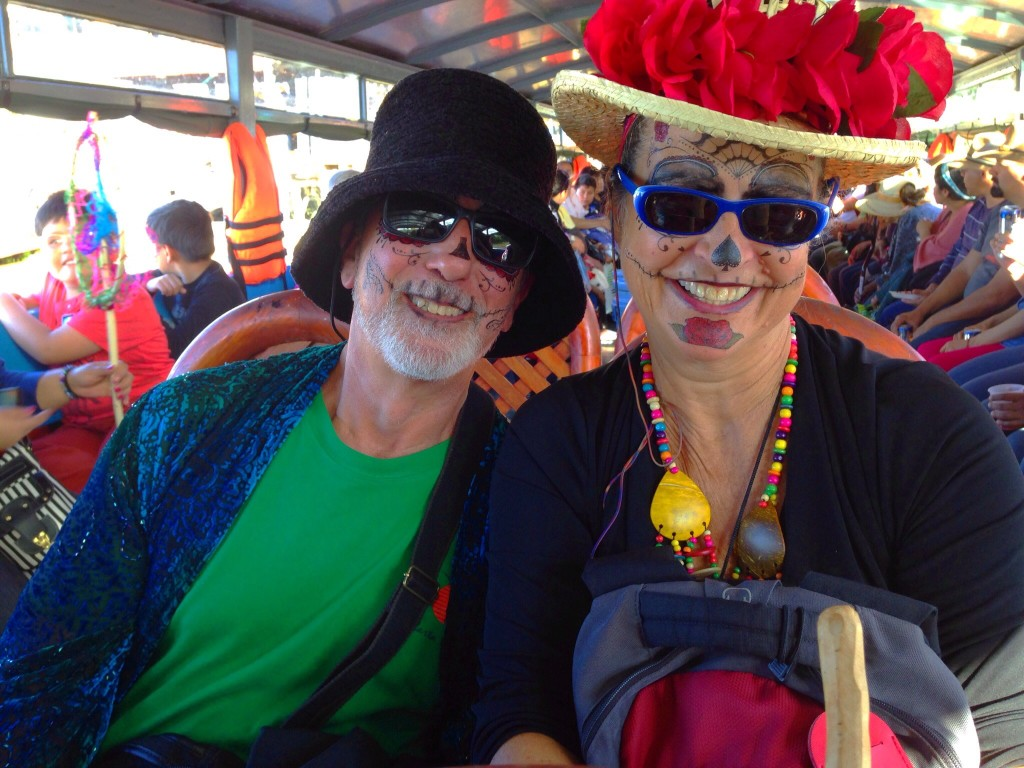 Rick and I in our Catrina/Catrine finest