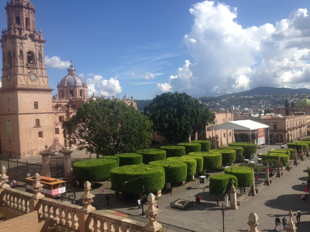 The view of the zocolo and catedral from our balcony