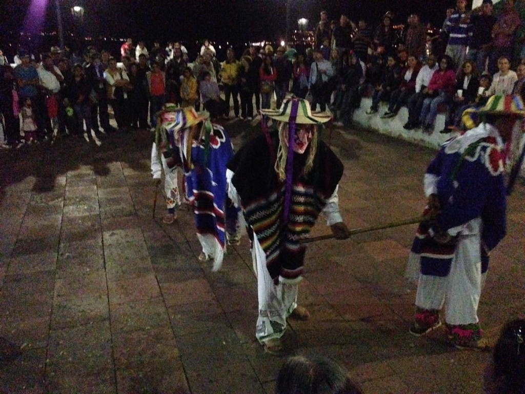 The dance of the Viejos, the old ones, which is a typical dance performed by the indigenous tribe that still has the exclusive right to inhabit Janitzio island
