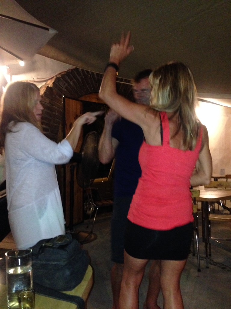 Dancers who have had a few too many at the Ballena Blanca bar.  Fun fun fun