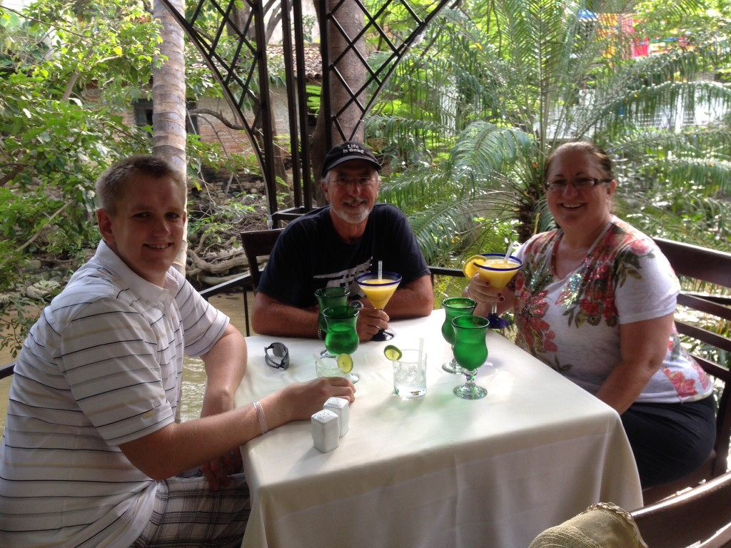 We also had quite the full day in downtown Puerto Vallarta, including stopping for another version of a mango margarita in a restaurant along the Rio Cuale that borders the Romantic Zone