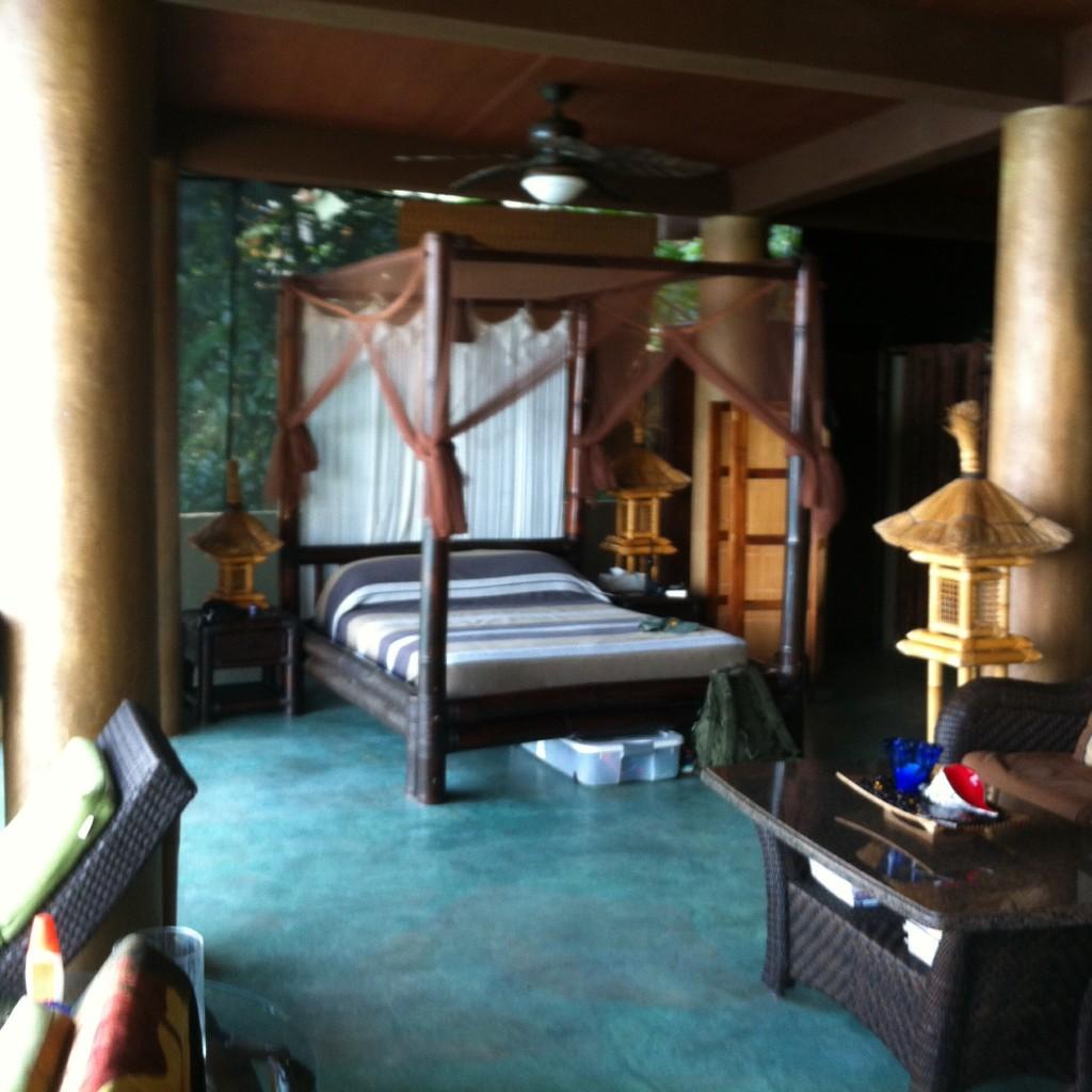 Dan and Sarah's bed